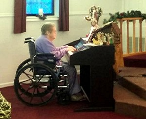 LA Mother at the keyboard Grace Baptist Church