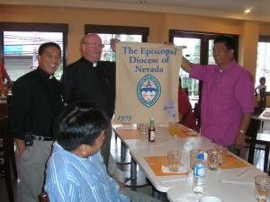Presentation of the Nevada banner to the PBPhilippines 8-2009 005