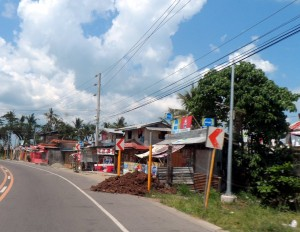 Tacloban houses and businesses