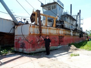 Ship that was washed ashore during typhoon