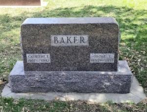 Kay Baker's grave