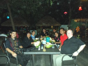 Dinner with diocesan staff