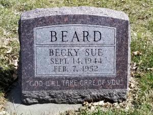 Becky Sue's grave