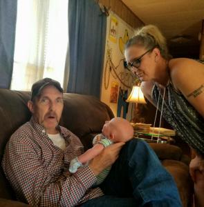Eddie, Casie, Grandson